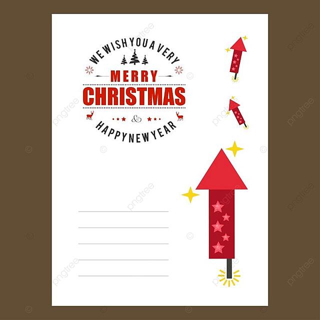 Diseño de invitación envlope Navidad Descarga gratuita de plantilla ...