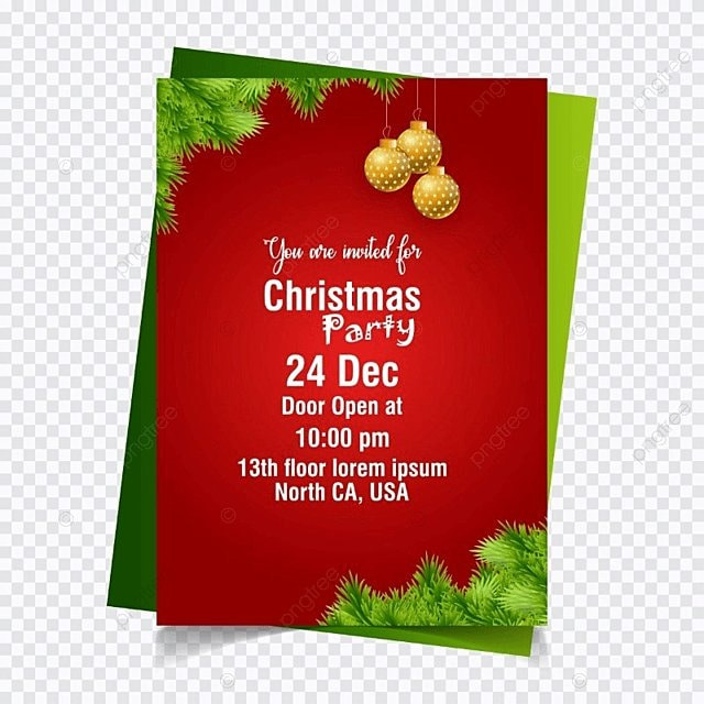 Christmas invitation card with red background template for free christmas invitation card with red background template stopboris Images