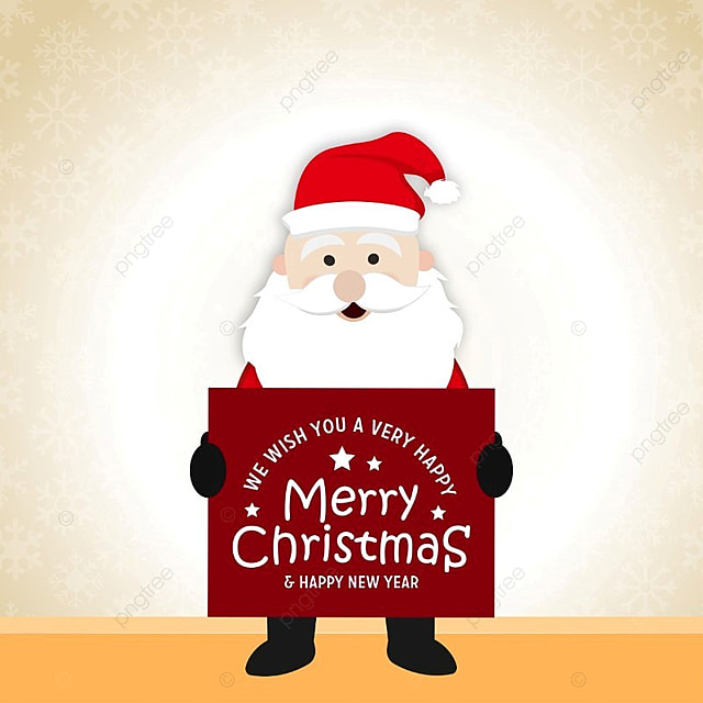 merry christmas card with santa clause template