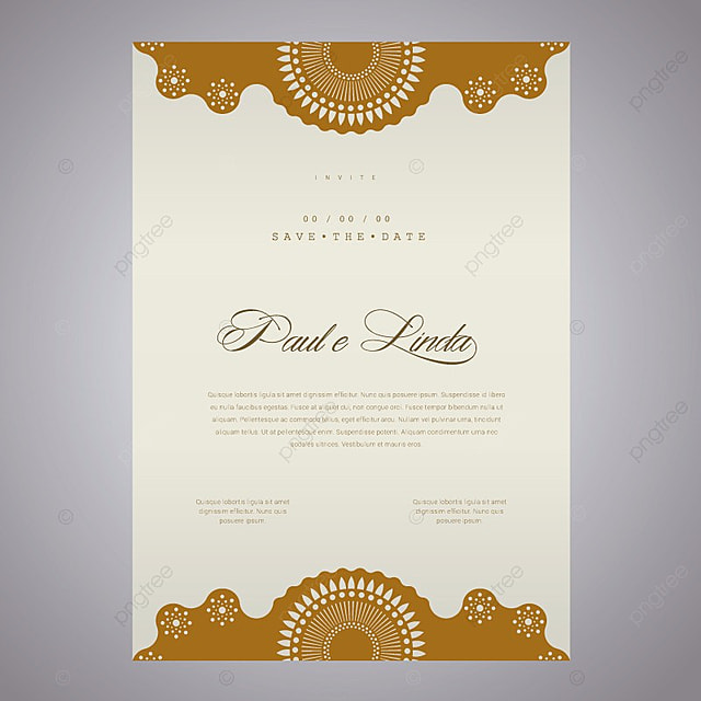 elegant wedding invitation template for free download on pngtree