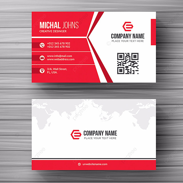 White business card with red details template for free download on white business card with red details template colourmoves