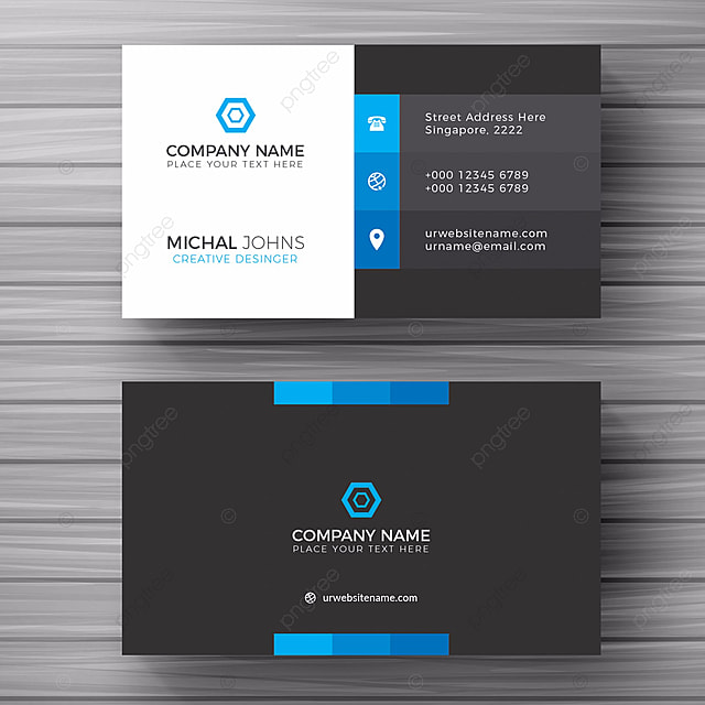 blue business card template free download on pngtree