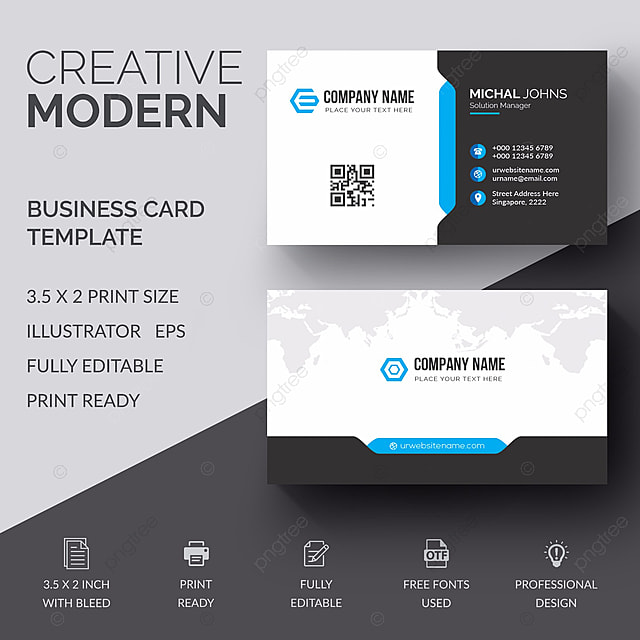Business Card Template For Free Download On Pngtree - Editable business card templates free