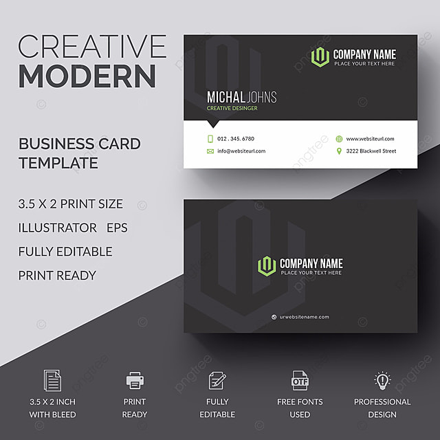 Creative business card design template for free download on pngtree creative business card design template wajeb Images