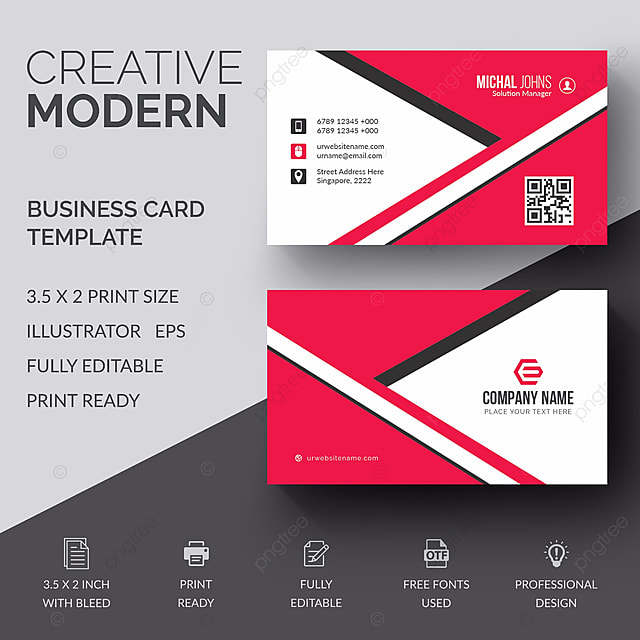 Business Card Template Free Download On Pngtree - Business card template designs