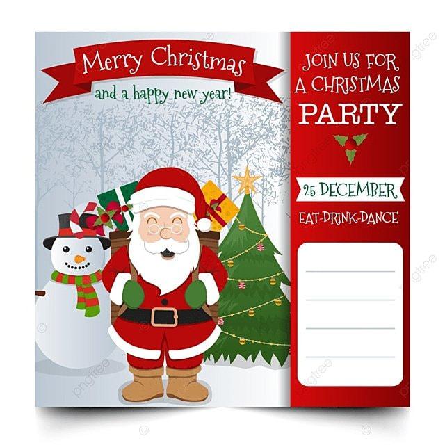 Diseño de invitación de Navidad Descarga gratuita de plantilla en ...