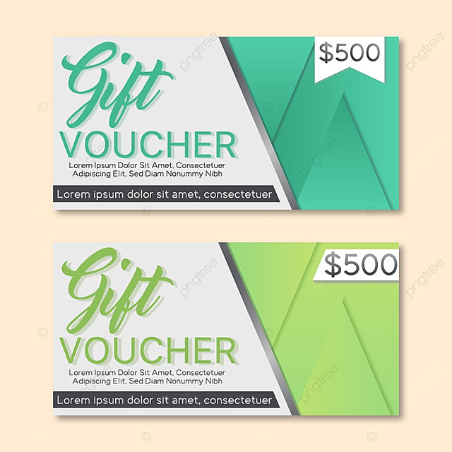 Gift Voucher Template With Colorful Pattern. Vector Illustration  Gift Voucher Template Free Download