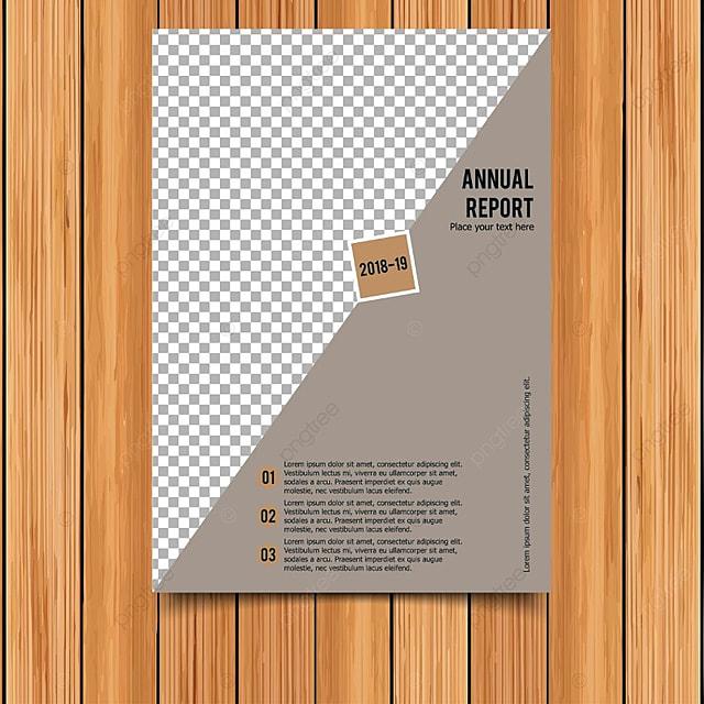 Tarjeta de informe anual con la luz de fondo gris Descarga gratuita ...
