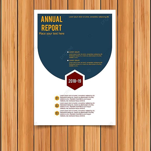 Informe anual tarjeta con azul y blanco Descarga gratuita de ...