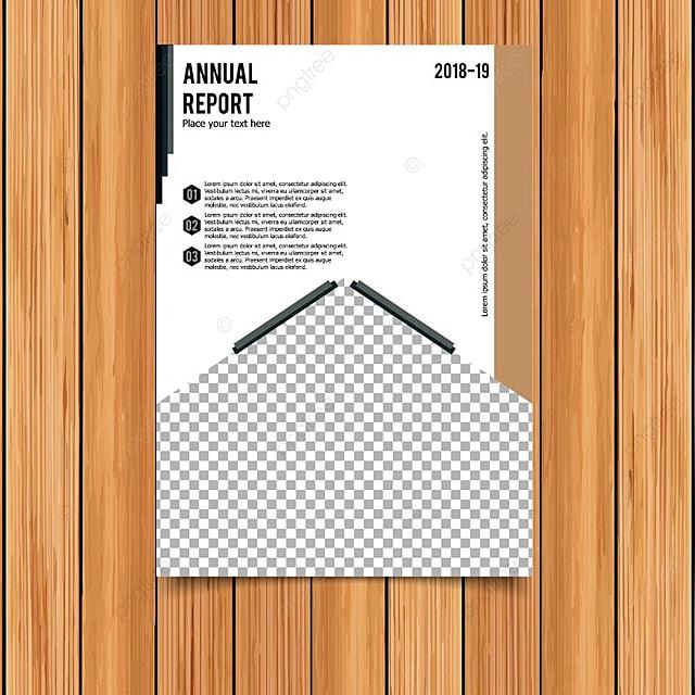 Vector tarjeta de informe anual de blanco Descarga gratuita de ...