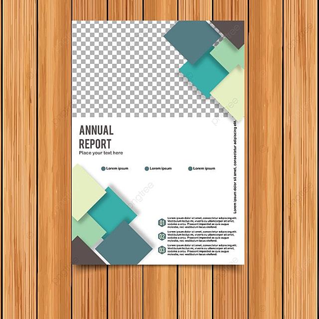 Informe anual tarjeta con Polígono Frame Descarga gratuita de ...