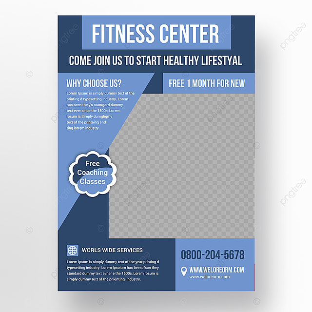 Fitness Flyer Template For Free Download On Pngtree