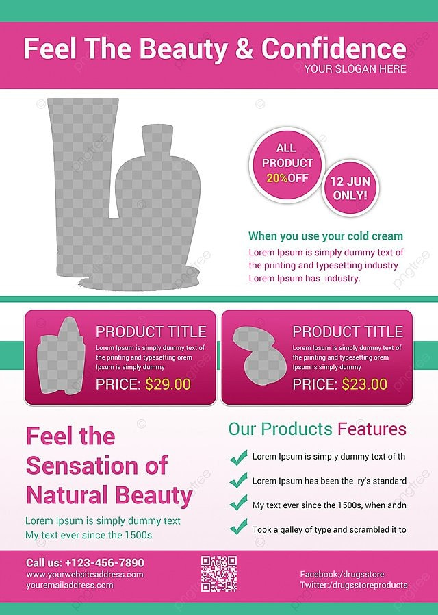 Beauty Product Flyer Template For Free Download On Pngtree