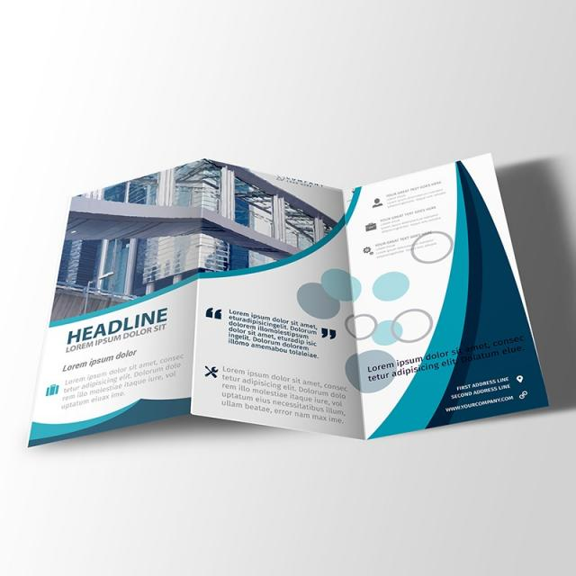 Z Fold Brochure Design Template