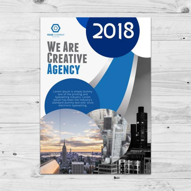 new creative agency brochure template template for free