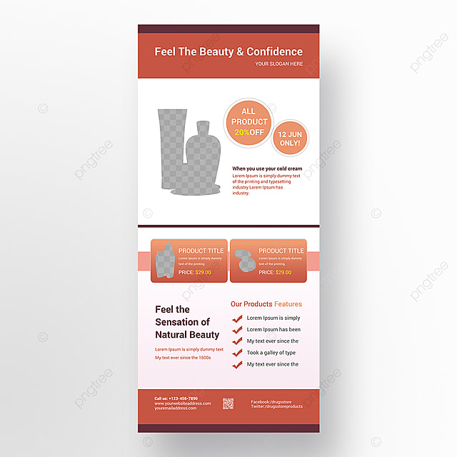 Cosmetic Roll Up Banner Template