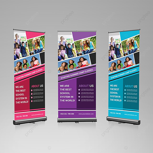 photography roll up banner template for free download on