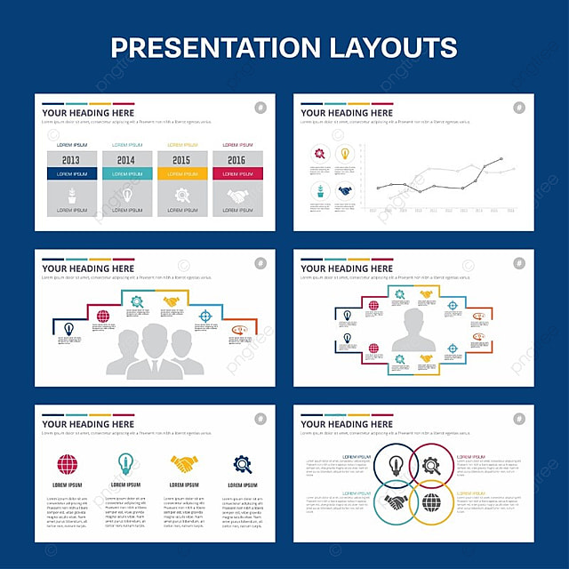 Presentation Template Blue Theme Template For Free Download On Pngtree