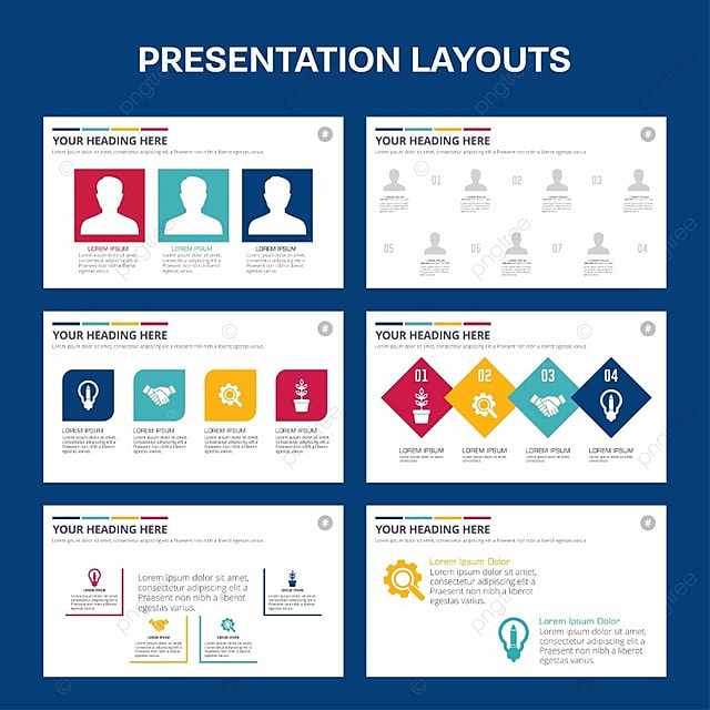 template for presentation blue stylish template for free download on