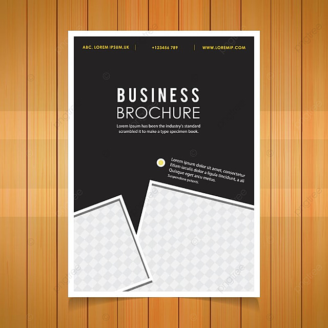 business brochure black template