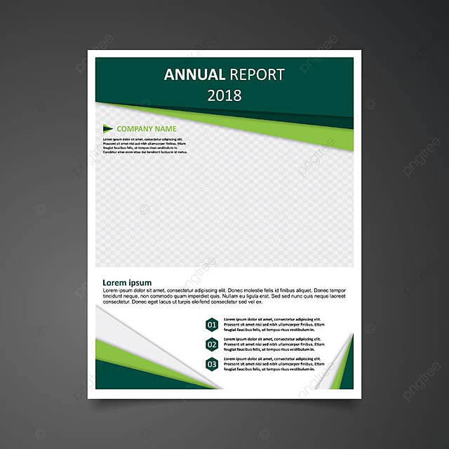 annual report 2018 green template for free download on pngtree