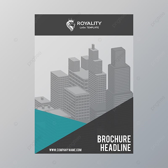 brochure template grey template