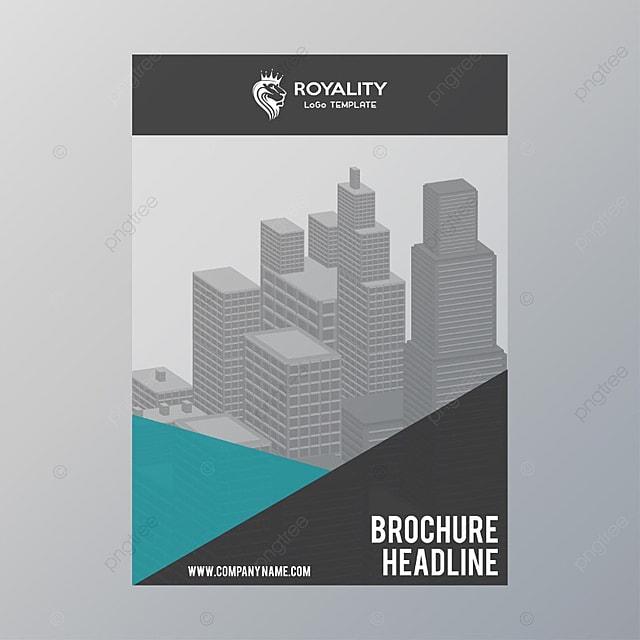 brochure template grey template - Settlement Brochure Template