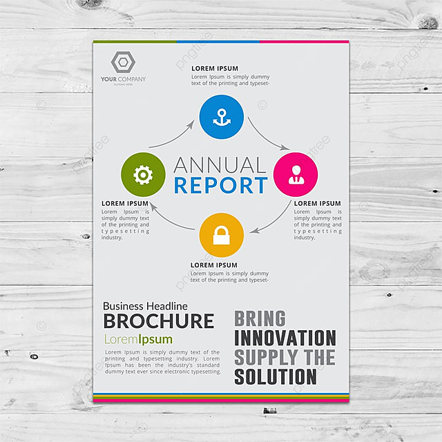 multi usable colorful brochure template