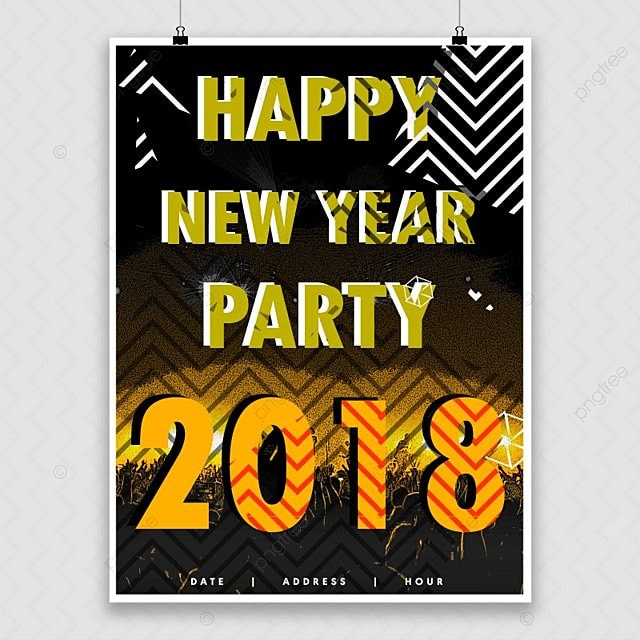 Abstract New Year Party Poster Template For Free Download On Pngtree