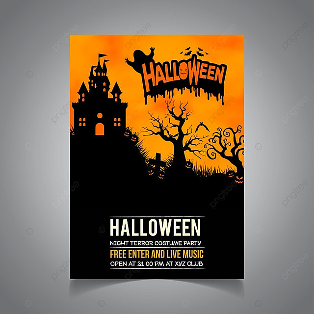 Halloween Poster Template For Free Download On Pngtree