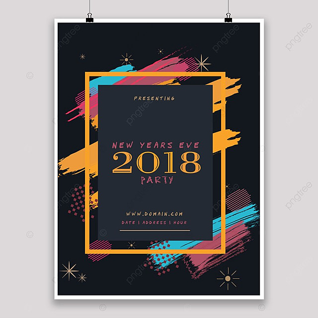 New year dark poster