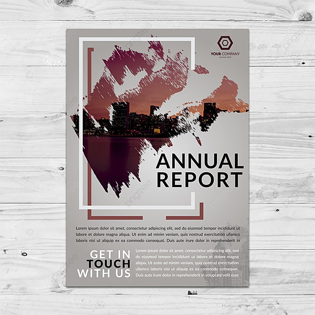 useful textured annual report cover template for free download on