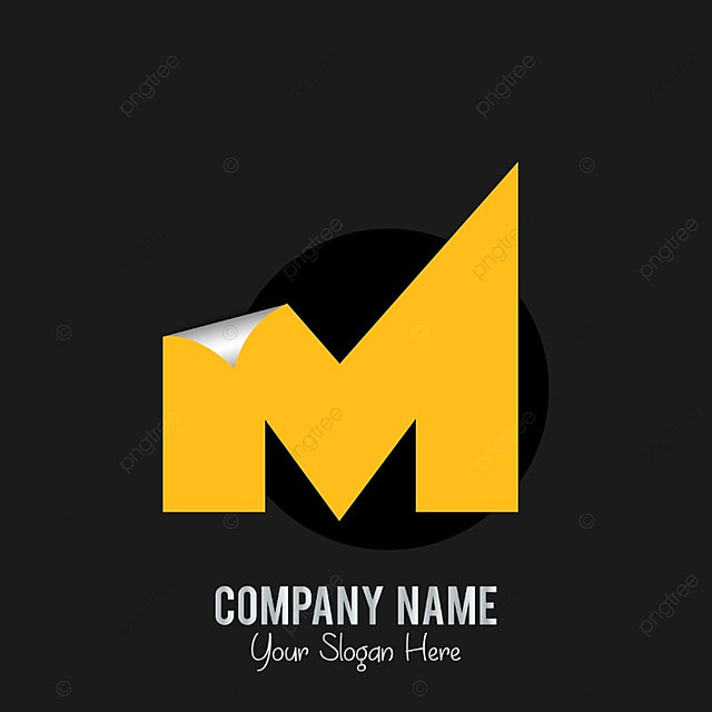 m logo with dark background template for free download on