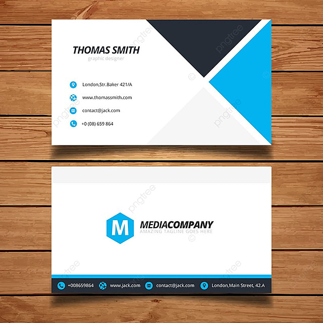 Simple blue business card template for free download on pngtree simple blue business card template wajeb Choice Image
