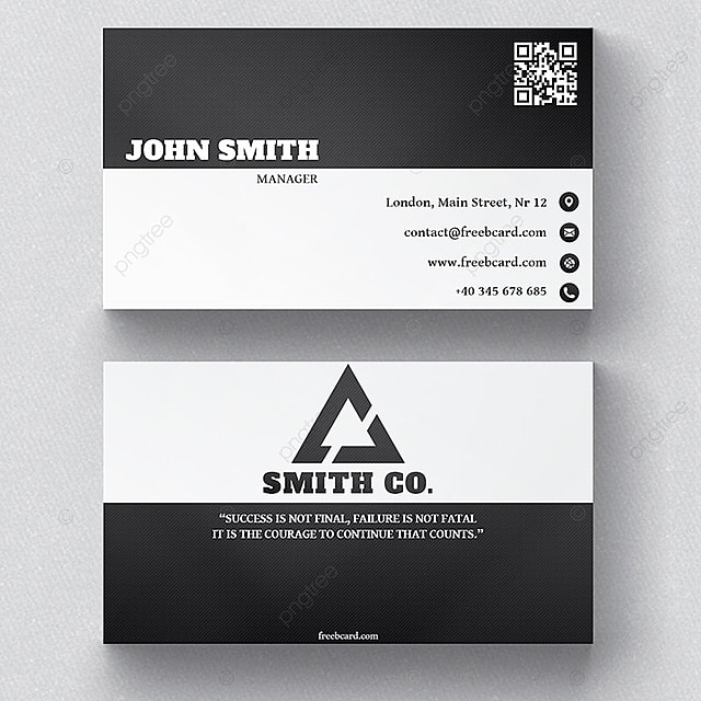 Black and white business card template for free download on pngtree black and white business card template wajeb