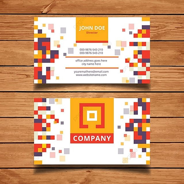 pixel business card template