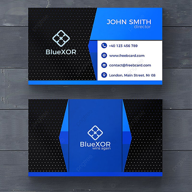 Blue technology business card template for free download on pngtree blue technology business card template colourmoves