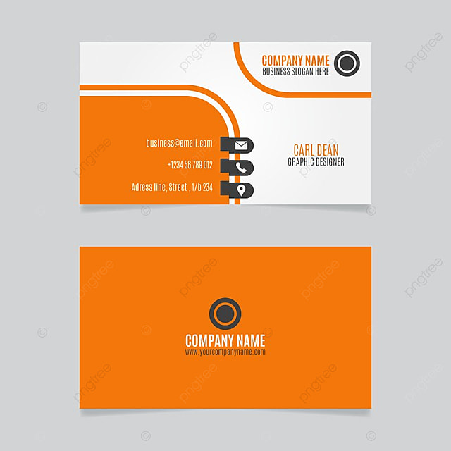 Orange business card template for free download on pngtree orange business card template reheart Choice Image