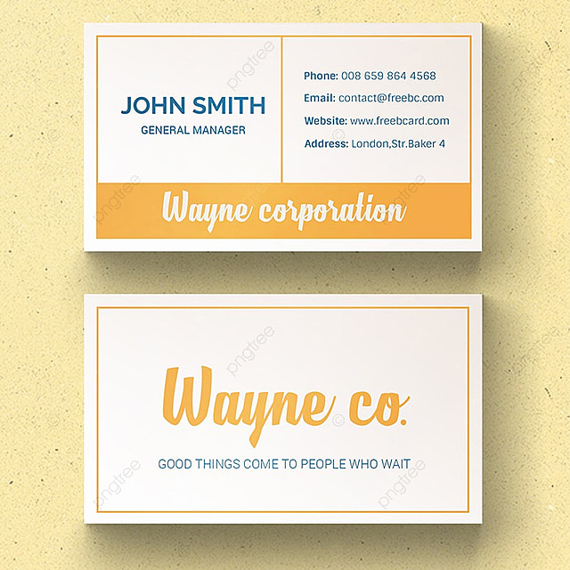 Simple Vintage Business Card Template Free Download On Pngtree - Vintage business card template