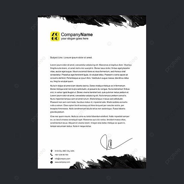 Kopf Brief Vorlage Zum Kostenlosen Download Auf Pngtree