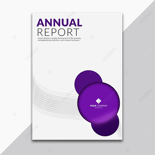 Dark Purple Annual Report Cover  Annual Report Cover Template