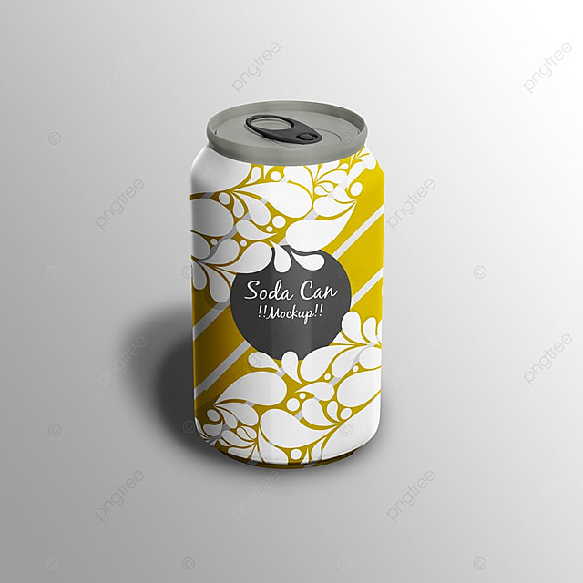 soda can packaging psd mock up template for free download on pngtree