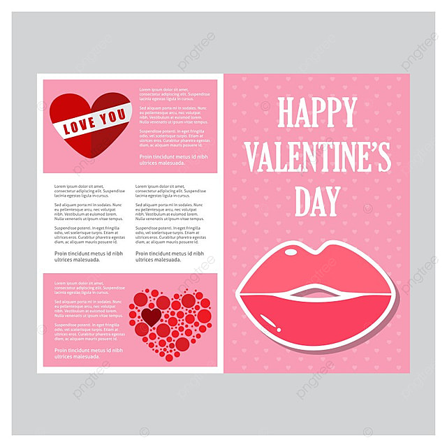 Happy Valentines Day Card Vector Template for Free ...
