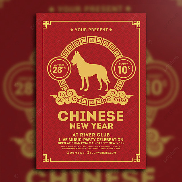 Chinese New Year Flyer Template For Free Download On Pngtree