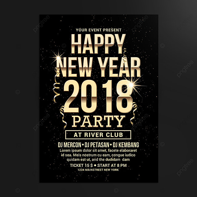 New Year Flyer Template For Free Download On Pngtree