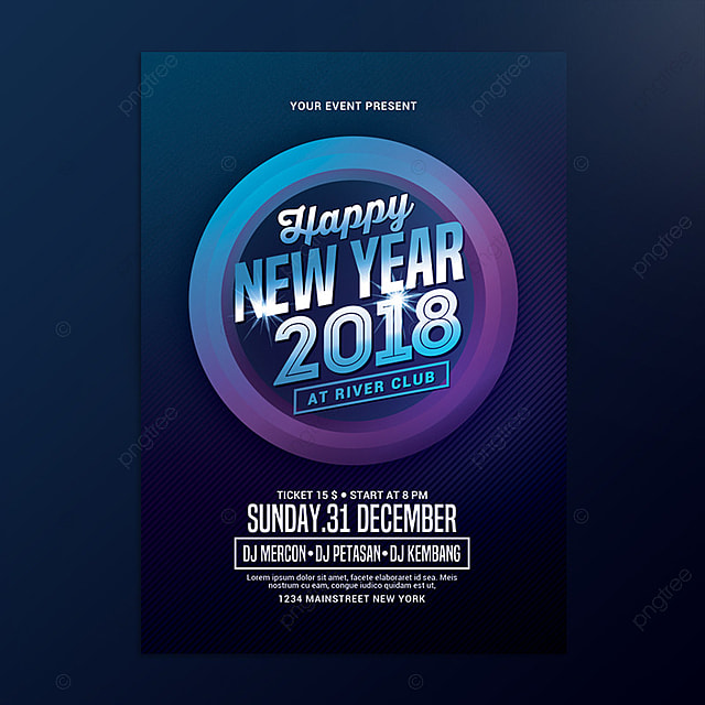 New Year Poster Template For Free Download On Pngtree