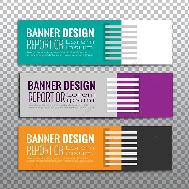 Multi Color Vector Web Banner Template