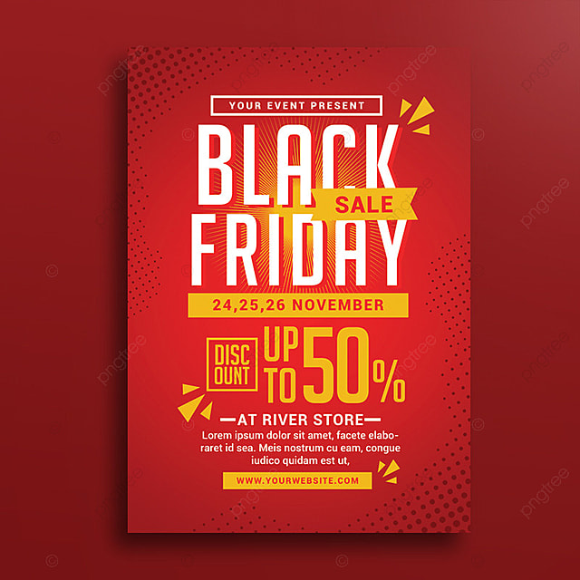 black friday sale poster template for free download on pngtree