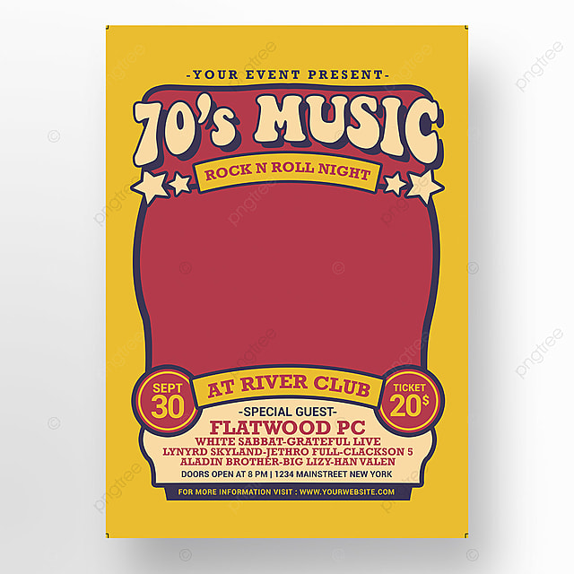 70s Music Show Template for Free Download on Pngtree