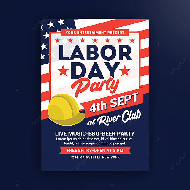 Labor Day Party Poster Template for Free Download on Pngtree
